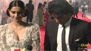 Sonam Kapoor Deep V Neck Dress at JTHJ Priemere - YouTube[(000322)20-28-34]