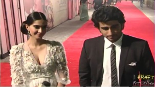 Sonam Kapoor Deep V Neck Dress at JTHJ Priemere - YouTube[(001325)20-30-37]