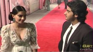Sonam Kapoor Deep V Neck Dress at JTHJ Priemere - YouTube[(001516)20-30-51]