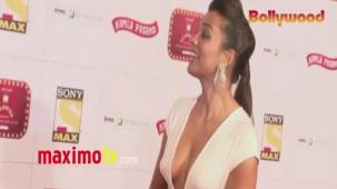 Mugdha Godse _Stardust_ Awards 2013 ARRIVALS Mumbai - Bollywood[20-30-03]